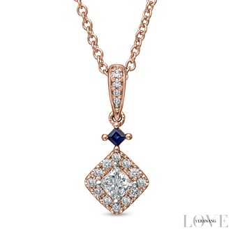 Vera Wang 18ct Rose Gold 0.37ct Diamond  Pendant - Product number 6909817