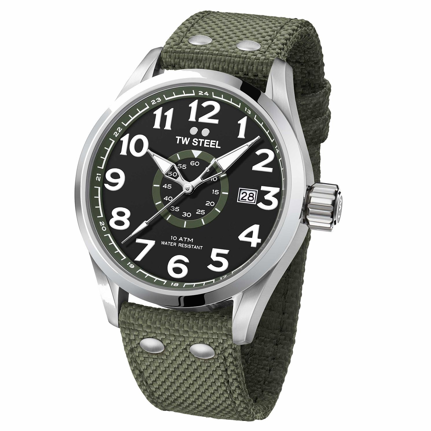 Tw Steel Volante Men's Stainless Steel Green Strap Watch - Product number 6915639