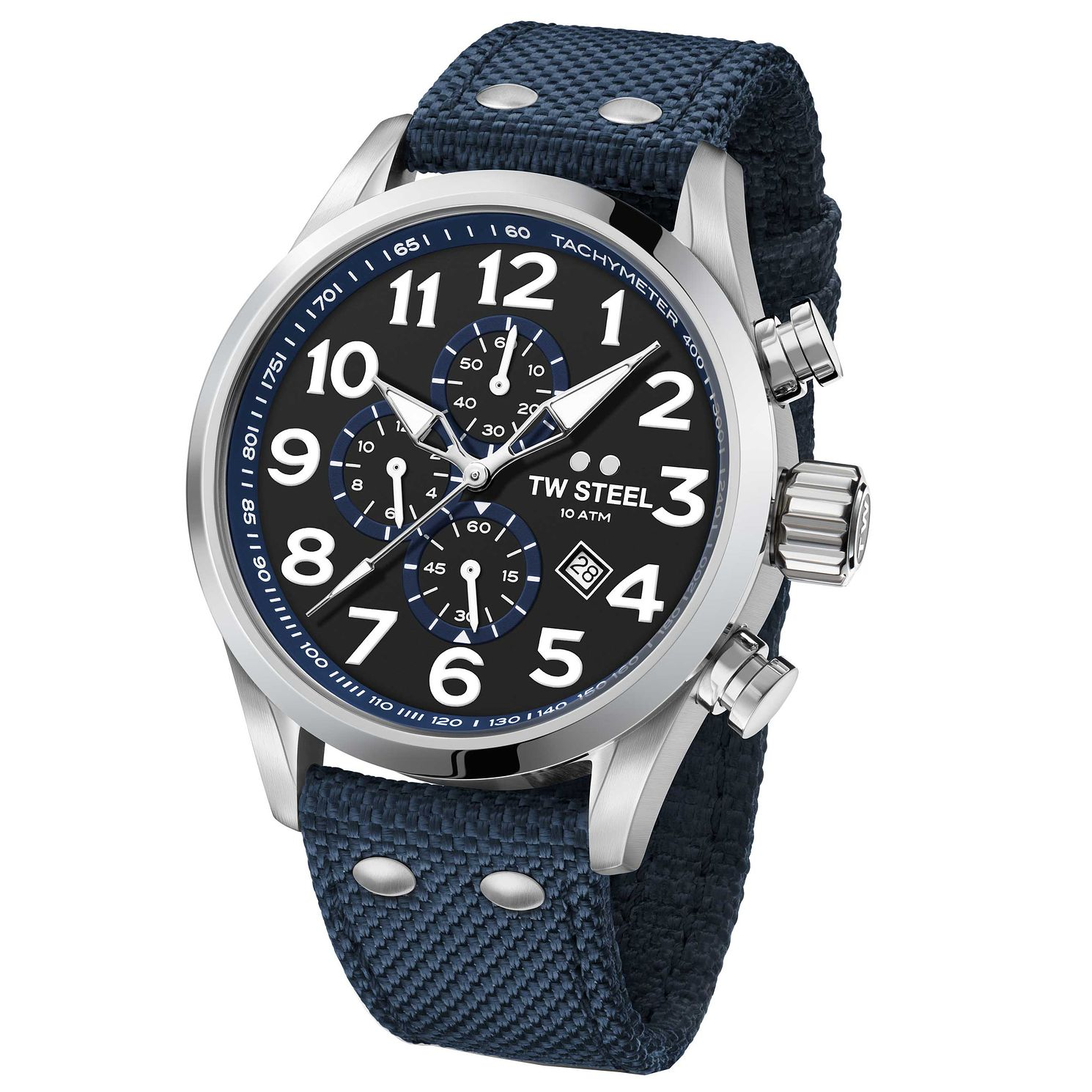 Tw Steel Volante Men's Stainless Steel Blue Strap Watch - Product number 6915671