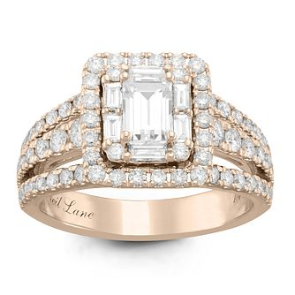 Neil Lane 14ct Rose Gold 1.74ct Diamond Halo Ring - Product number 6934080