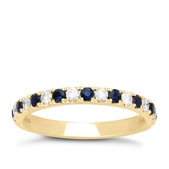 Neil Lane 14ct Yellow Gold Sapphire and 0.23ct Diamond Band - Product number 6934749