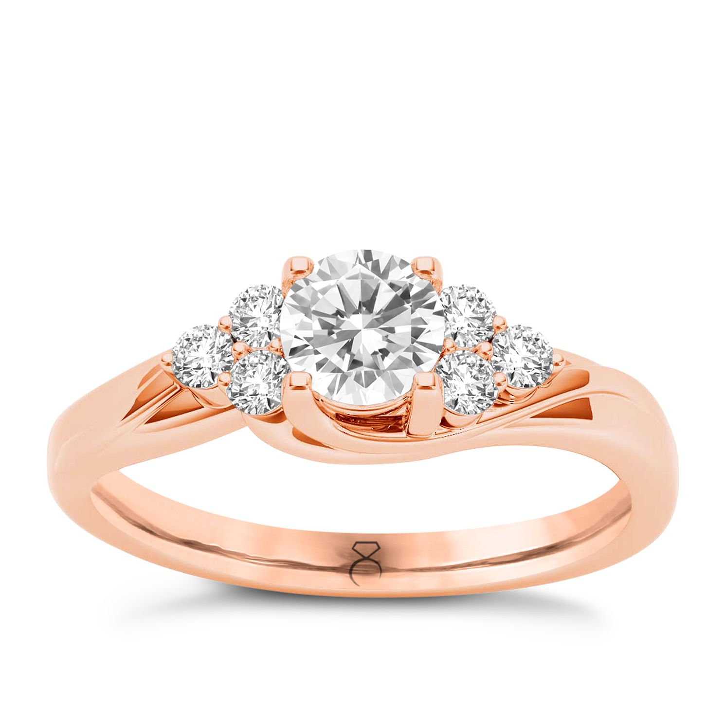 The Diamond Story 18ct Rose Gold 0.50ct Total Diamond Ring - Product number 6937322
