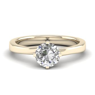 The Diamond Story 18ct Yellow Gold 0.25ct Solitaire Ring - Product number 6938248
