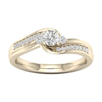 The Diamond Story 18ct Yellow Gold 0.33ct Total Diamond Ring - Product number 6939031