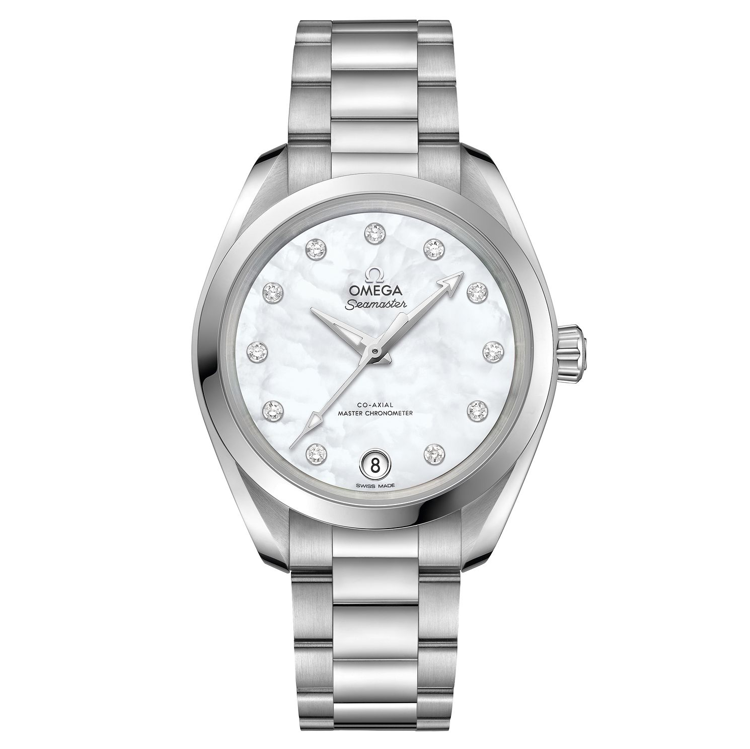 Omega Seamaster Aqua Terra Ladies Diamond Bracelet Watch - Product number 6939627