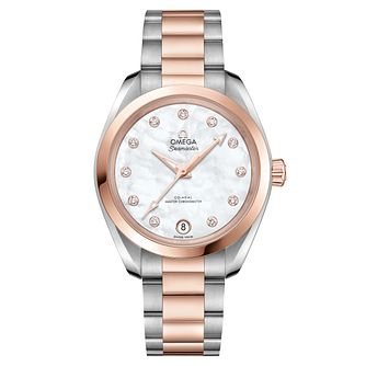Omega Seamaster Aqua Terra Ladies Diamond Bracelet Watch - Product number 6939643