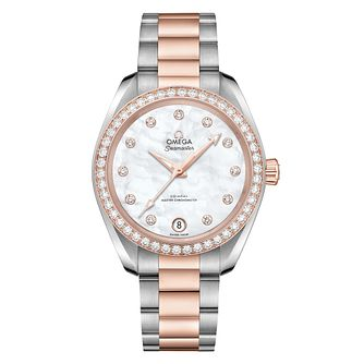 Omega Seamaster Aqua Terra Ladies Diamond Bracelet Watch - Product number 6939651