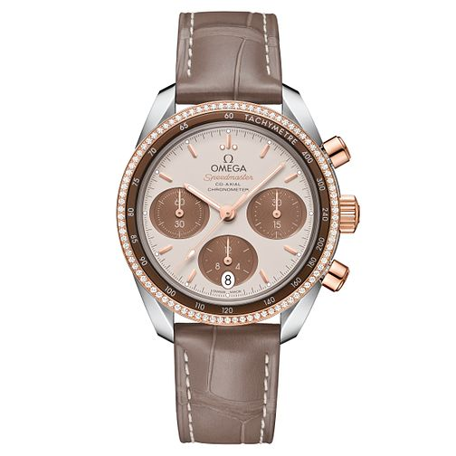 Omega Ladies' Speedmaster 38 18ct Rose Gold Strap Watch - Product number 6939686