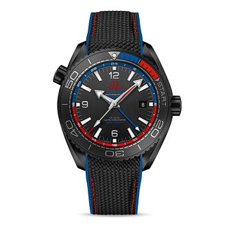 Omega Seamaster Planet Ocean Men's Black Rubber Strap Watch - Product number 6939724