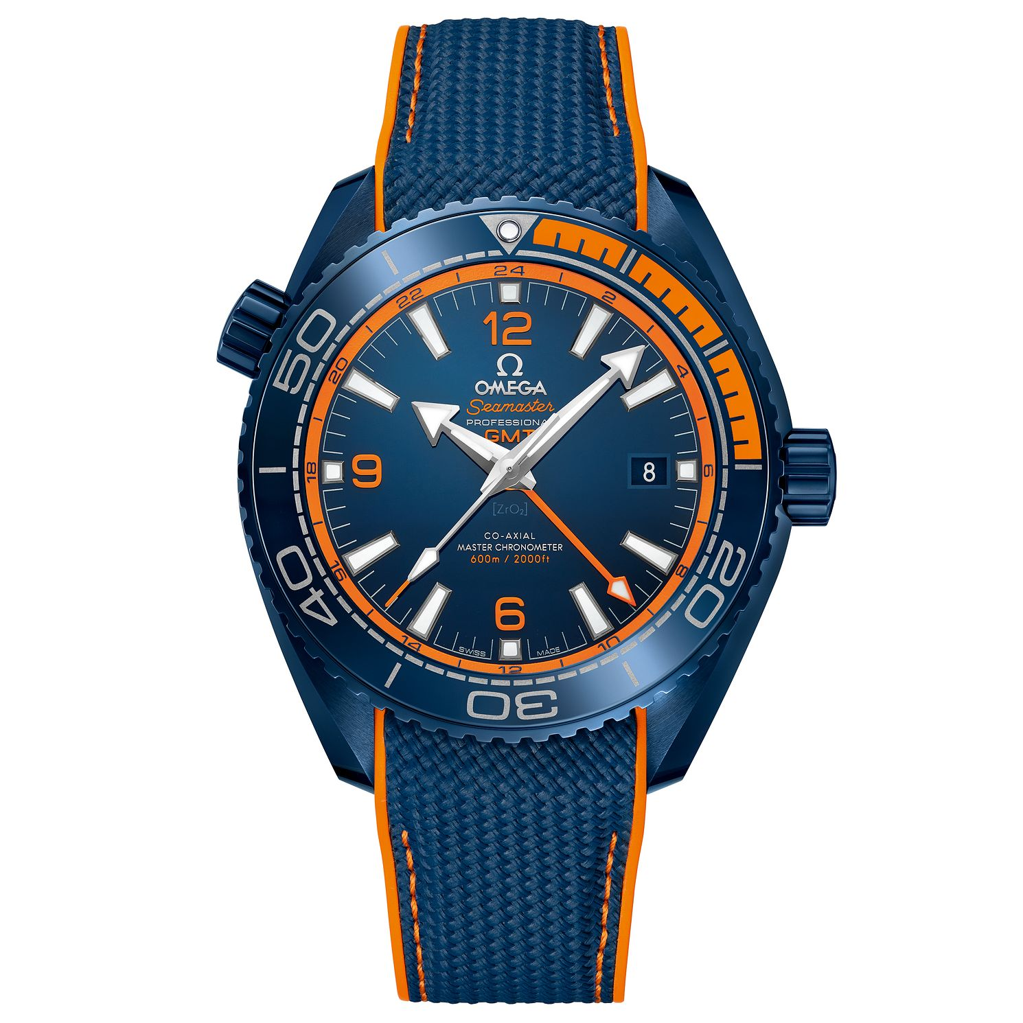 Omega Seamaster Planet Ocean Men's Ceramic Blue Strap Watch - Product number 6939732