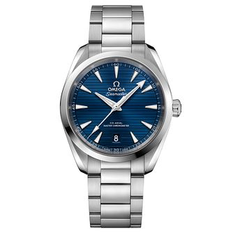 Omega Seamaster Aqua Terra Men's Stainless Steel Blue Watch - Product number 6939783
