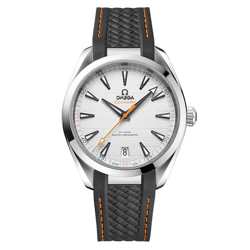 Omega Seamaster Aqua Terra Men's Grey Rubber Strap Watch - Product number 6939899