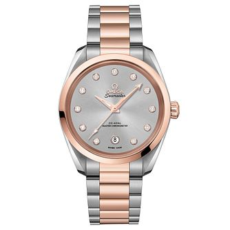 Omega Seamaster Aqua Terra Ladies Diamond Bracelet Watch - Product number 6939961