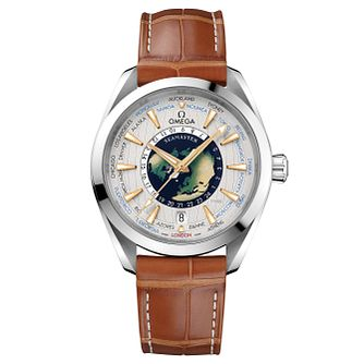 Omega Seamaster Aqua Terra Worldtimer Men'sstrap Watch - Product number 6940021