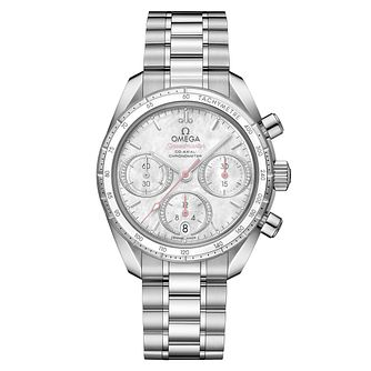 Omega Speedmaster Ladies Steel Diamond Bracelet Watch - Product number 6940129
