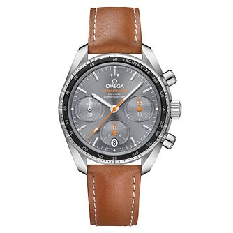 Omega Speedmaster 38 Men's Brown Leather Strap Watch - Product number 6940137