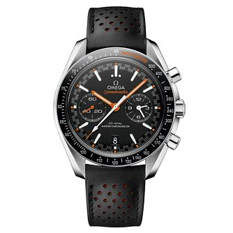 Omega Speedmaster Men's Black Leather Strap Watch - Product number 6940218