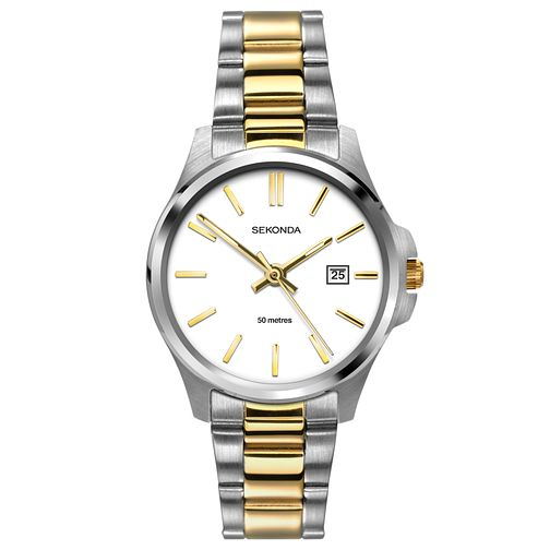 Sekonda Ladies' Stainless Steel White Dial Watch - Product number 6944574