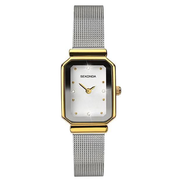 Sekonda La s Two Tone Rectangle Bracelet Watch
