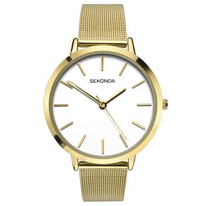 Sekonda Editions Ladies' Gold Plated Mesh Bracelet Watch - Product number 6944841