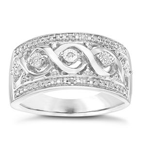 Sterling Silver Diamond Eternity Ring - Product number 6948243