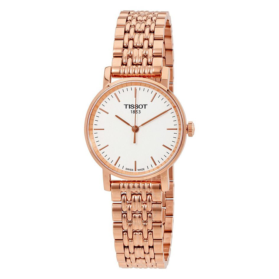 Tissot Ladies' Everytime Rose Gold Plated Bracelet Watch - Product number 6952836