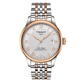 Tissot Men's Le Locle Rose Gold Plated Bracelet Watch - Product number 6952895