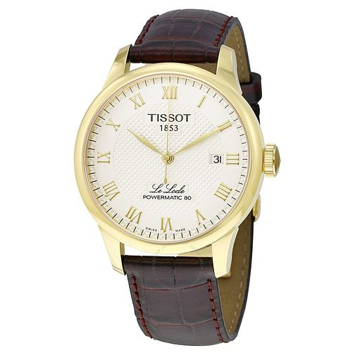 Tissot Men's Le Locle Yellow Gold Plated Bracelet Watch - Product number 6952909