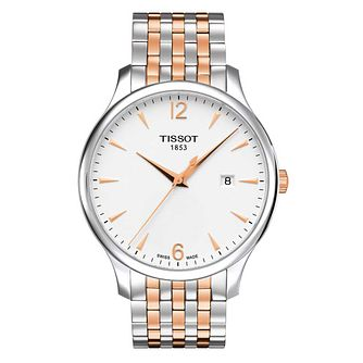 Tissot Men's Tradition Rose Gold Plated Bracelet Watch - Product number 6952917