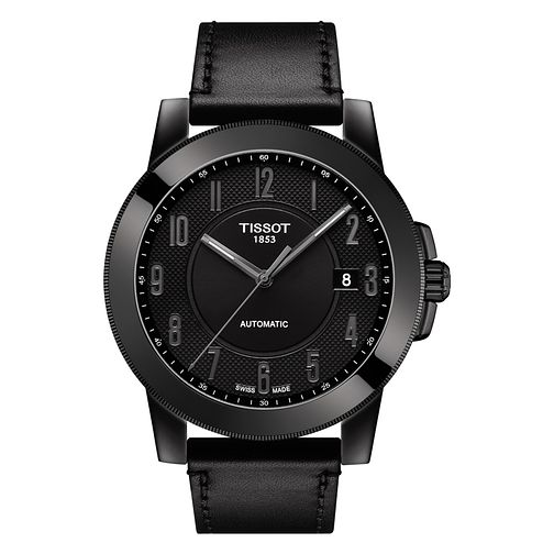 Tissot Gentleman Automatic Men's Black Ion Plated Watch - Product number 6952933