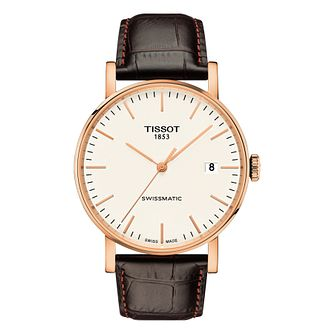 Tissot Everytime Men's Rose Gold Plated Strap Watch - Product number 6952984