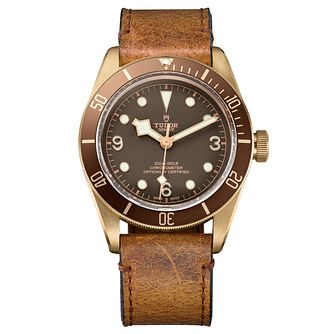Tudor Black Bay Bronze Men's Strap Watch - Product number 6954421