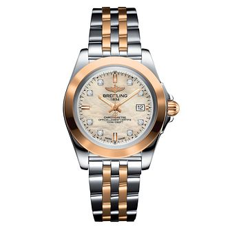 Breitling Galactic 32 Sleek Edition Two-Tone Diamond Watch - Product number 6955010