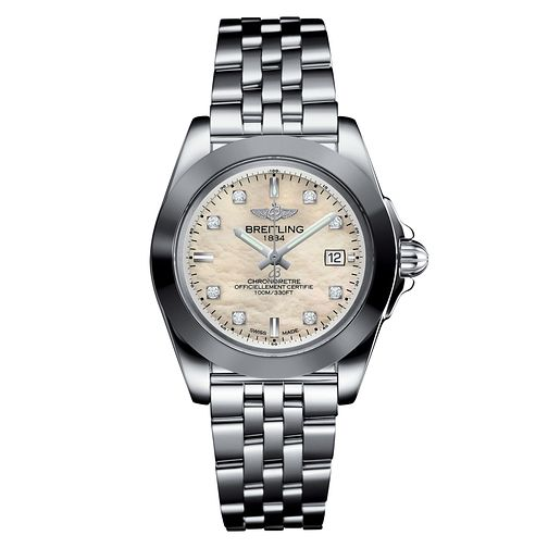 Breitling Galactic 32 Ladies' Stainless Steel Bracelet Watch - Product number 6955029