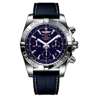 Breitling Chronomat 44 Men's Blue Rubber Strap Watch - Product number 6955088