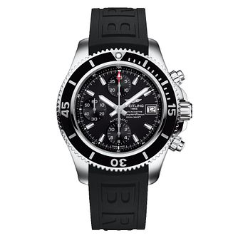 Breitling Superocean 42 Men's Black Rubber Strap Watch - Product number 6955231