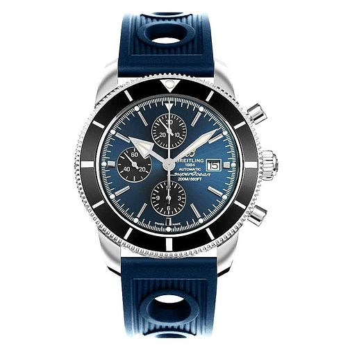 Breitling 1884 Stainless Steel Soher Blue Strap Watch - Product number 6955282