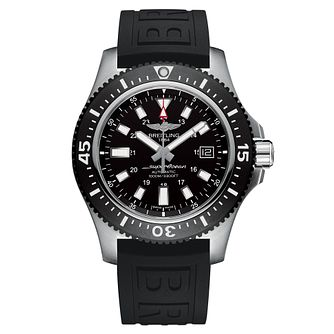 Breitling Superocean II 44 Men's Black Leather Strap Watch - Product number 6955452
