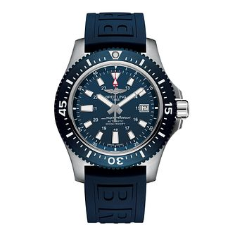 Breitling Superocean II 44 Men's Blue Rubber Strap Watch - Product number 6955460