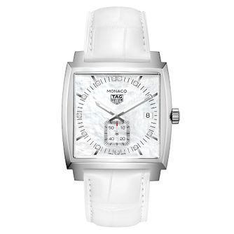 TAG Heuer Monaco Ladies' Stainless Steel White Strap Watch - Product number 6956149
