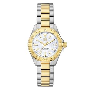 TAG Heuer Aquaracer Ladies' Two Colour Bracelet Watch - Product number 6956254