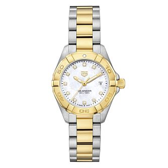 TAG Heuer Aquaracer Diamond Ladies' Two Tone Bracelet Watch - Product number 6956270