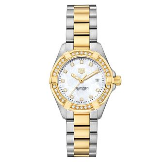 TAG Heuer Aquaracer Diamond Ladies' Two Tone Bracelet Watch - Product number 6956289