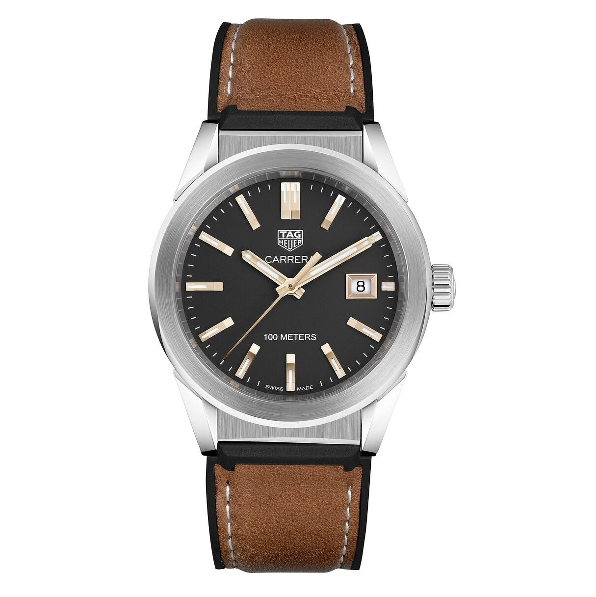 TAG Heuer Carrera Ladies' Brown Leather Strap Watch - Product number 6956300