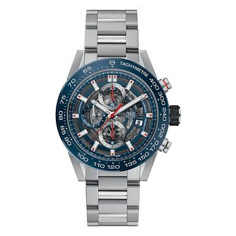 TAG Heuer Carrera Men's Stainless Steel Bracelet Watch - Product number 6956335