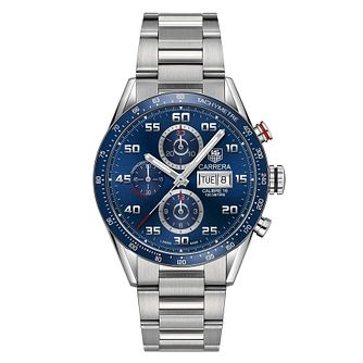 TAG Heuer Carrera Men's Blue Stainless Steel Bracelet Watch - Product number 6956416