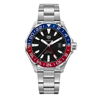 TAG Heuer Aquaracer Gmt Men's Stainless Steel Bracelet Watch - Product number 6956424