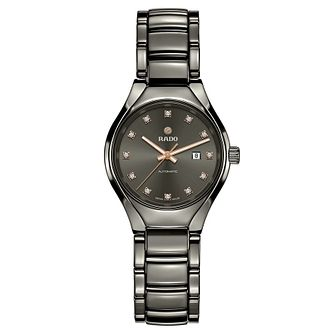Rado True Automatic Ladies' Grey Ceramic Diamond Watch - Product number 6956602