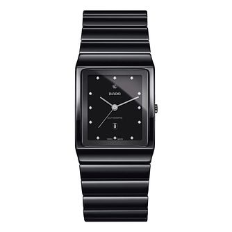 Rado Ceramica Unisex Ceramic Black Bracelet Watch - Product number 6956645