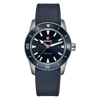 Rado Captain Cook Men's Stainless Steel Blue Strap Watch - Product number 6956831